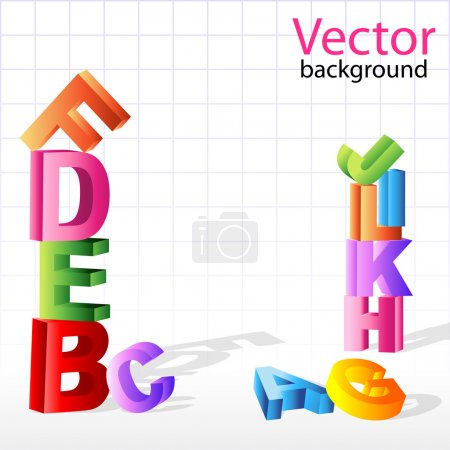 Background with alphabets