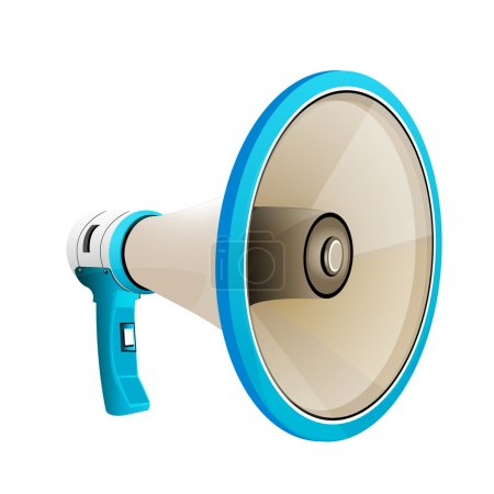 Illustration of megaphone on white