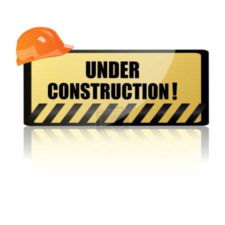 Hardhat on underconstruction board