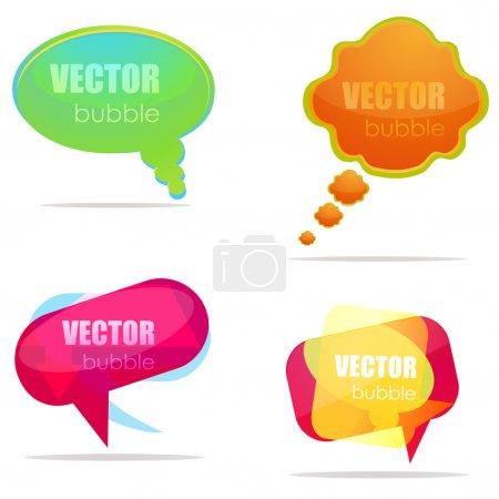 Foto de Ilustración del conjunto de diferentes burbujas del habla - Imagen libre de derechos