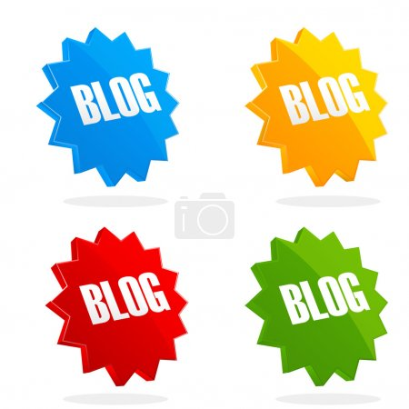 Set of blog icons