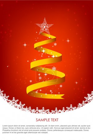 Christmas background with swirling christmas tree