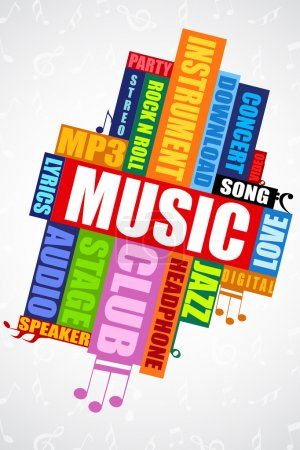 Musical word cloud
