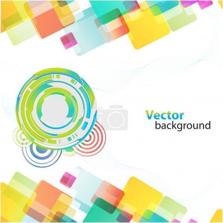 Foto de Ilustración de colores de fondo con cuadrados y círculos - Imagen libre de derechos