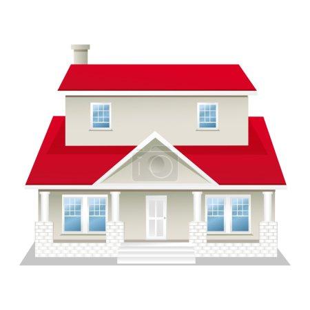 Photo pour Illustration de la maison, isolé sur fond blanc - image libre de droit