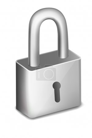 Photo for Illustration of pad lock on an isolated background - Royalty Free Image