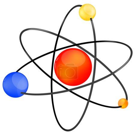 Atom icon on white