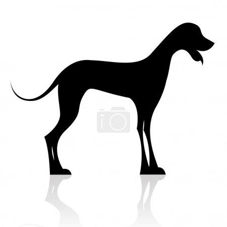 Black dog silhouette