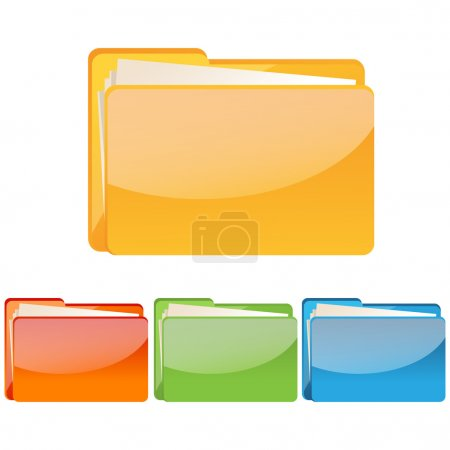 Photo for Illustration of set of colorful folder icon on an isolated background - Royalty Free Image