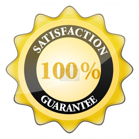 Photo pour Illustration de 100 % satisfaction garantie signe - image libre de droit