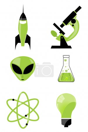 Photo for Illustration of set of scientific icon on isolated background - Royalty Free Image