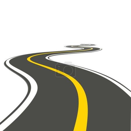 Photo for Illustration of roadway on isolated background - Royalty Free Image