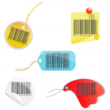Tags of barcodes