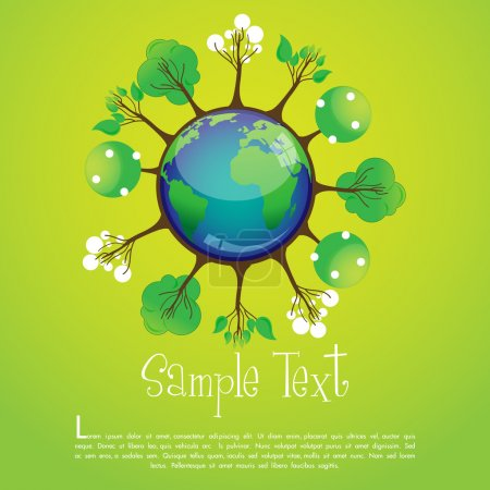 Photo pour Illustration du recyclage global - image libre de droit