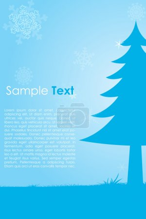 Christmas card with sample text