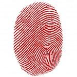 Illustration of thumb impression on white backgrou...