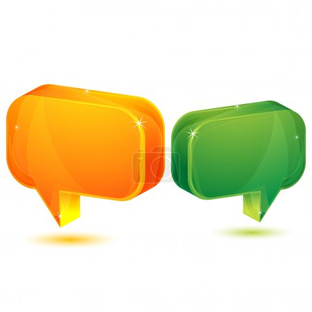 Photo for Illustration of dialogue bubble on white background - Royalty Free Image