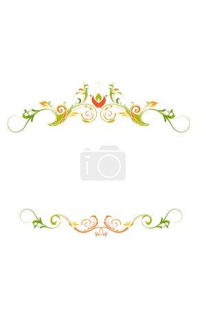 Photo pour Illustration de fond concepteur coloré sur fond blanc - image libre de droit