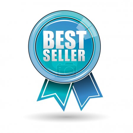 Photo for Illustration of best seller label on white background - Royalty Free Image