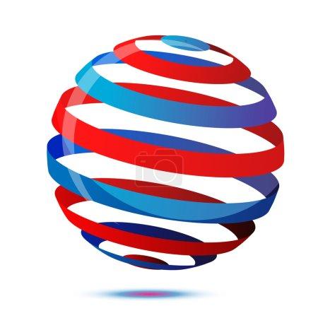 Photo pour Illustration du cercle coloré sur fond blanc - image libre de droit