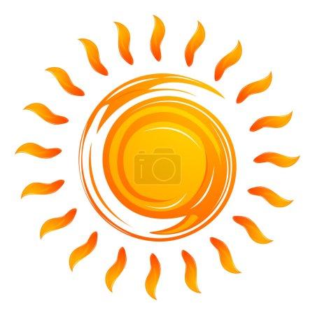 Photo for Illustration of warming sun on white background - Royalty Free Image