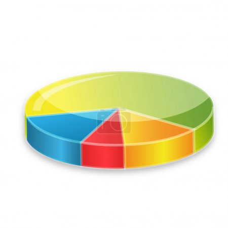 Photo pour Illustration de diagramme circulaire coloré sur fond blanc - image libre de droit