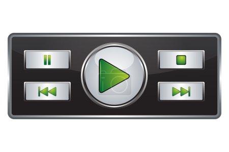 Photo pour Illustration du bouton démarrer sur fond blanc - image libre de droit