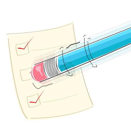 Eraser on pencil