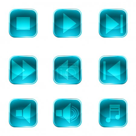 Photo pour Illustration des boutons de l'instrument sur fond blanc - image libre de droit