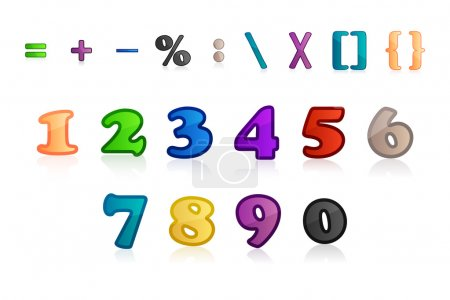 Set of numbers and characters