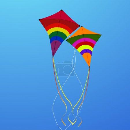 Photo for Illustration of flying kites - Royalty Free Image