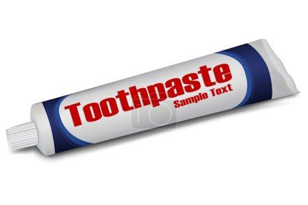 Photo pour Illustration de tube de dentifrice sur fond blanc - image libre de droit