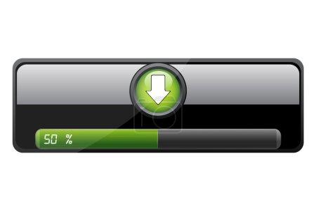 Photo pour Illustration de téléchargement bar sur fond blanc - image libre de droit