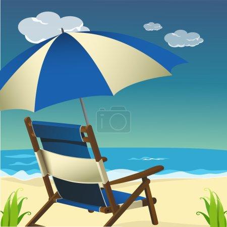 Sea beach scene