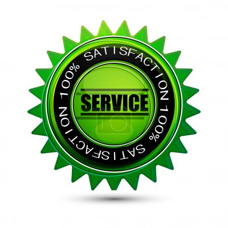 100% satisfaction service tag