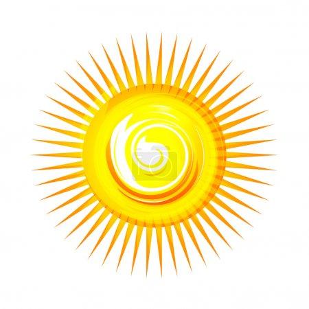 Photo for Illustration of sun on white background - Royalty Free Image