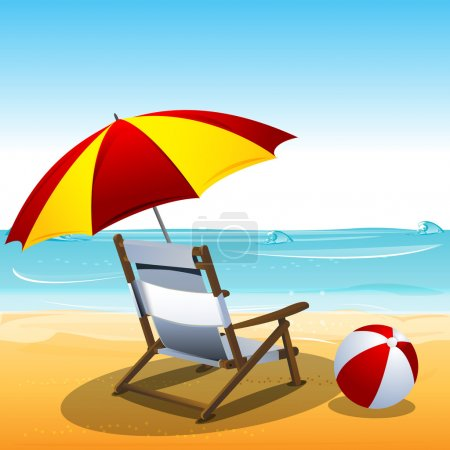 Photo for Illustration of classic summer card - Royalty Free Image