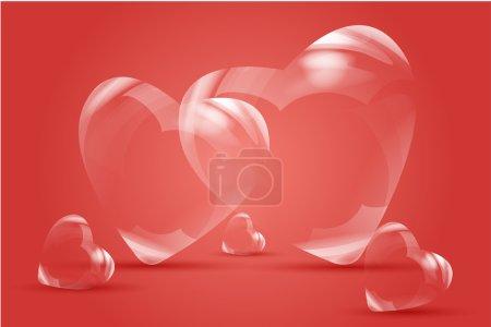 Photo pour Illustration de cœurs pétillants - image libre de droit