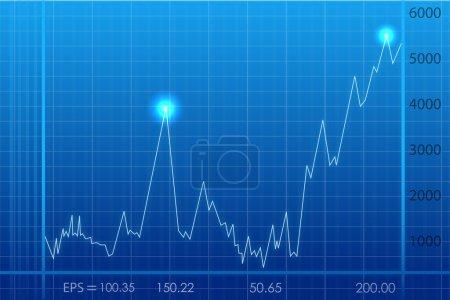 Foto de Ilustración del gráfico abstracto de crecimiento empresarial - Imagen libre de derechos