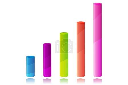 Photo pour Illustration de graphique d'affaires coloré sur fond blanc - image libre de droit