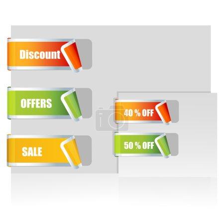Photo pour Illustration de vente tags sur fond blanc - image libre de droit