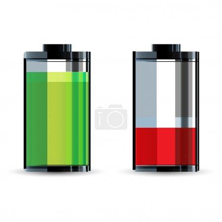 Photo pour Illustration du niveau de batterie sur fond blanc - image libre de droit