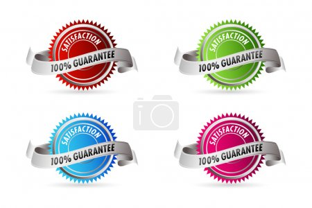 Photo pour Illustration de 100 % de satisfaction garantie sur fond blanc - image libre de droit