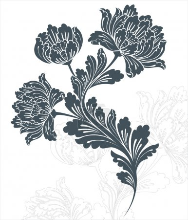 Illustration for Floral background - Royalty Free Image