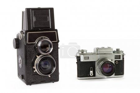 Vintage cameras isolated