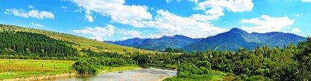 Paysage d'été montagne