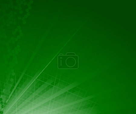 Green abstract ray background