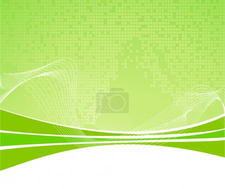 Illustration for Green abstract background with texture. Vector illustration - Royalty Free Image