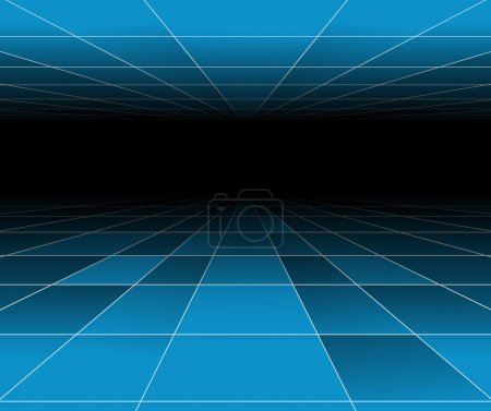 Futuristic abstract blue background