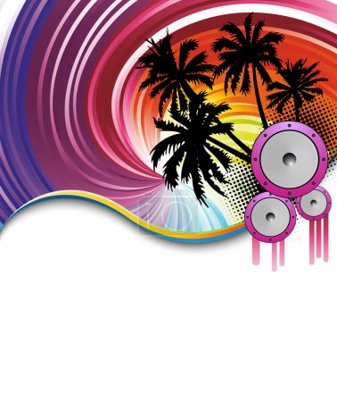 Rainbow beach party poster